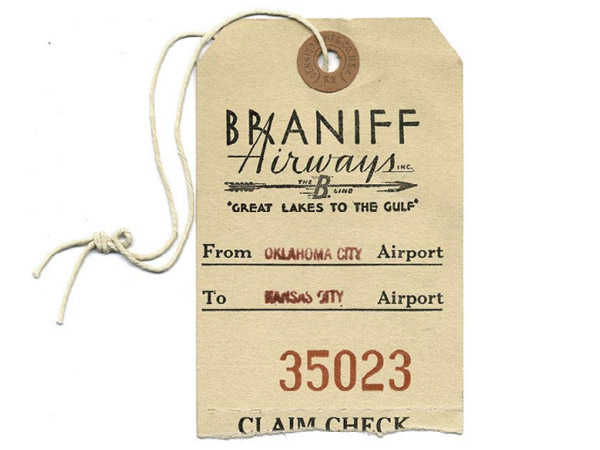 A brief elegant history of the airline baggage tag the for Airline luggage tag template
